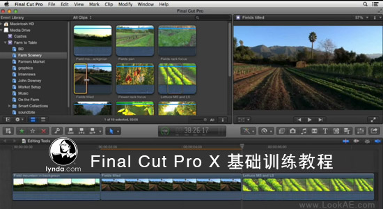FCPX基础训练教程 Lynda-Final Cut Pro X Essential Training