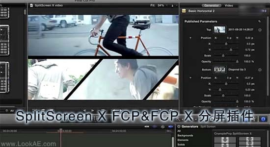 FCPX 分屏插件:SplitScreen X FCP&FCP X