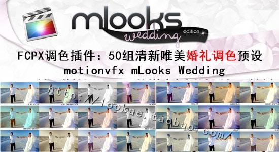 FCPX调色插件:50组清新唯美婚礼调色预设 motionvfx mLooks Wedding