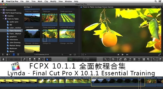 Lynda - Final Cut Pro X 10.1.1 Essential Training 全面教合集