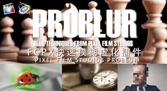 FCPX 快速局部模糊虚化马赛克插件 PIXEL FILM STUDIOS – PROBLUR