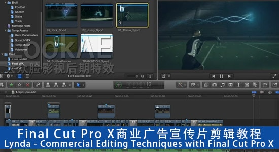 Final Cut Pro X商业广告宣传片剪辑教程Lynda - Commercial Editing Techniques with Final Cut Pro X