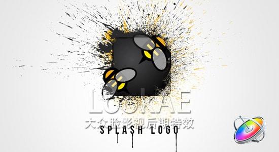 Motion 5 模版:飞溅水墨LOGO片头 Splash Logo 4482820