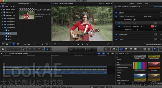 FCPX教程:高级调色讲解教程 Lynda - Final Cut Pro X Guru: Color Correction