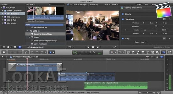 FCPX教程:数字音频音效制作编辑训练教程 Intro to Effective Digital Sound Design in Final Cut Pro X