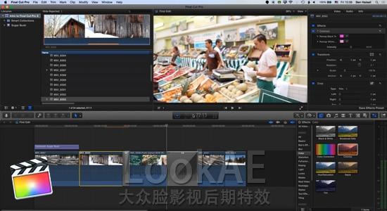 FCPX教程:25分钟快速学习 Final Cut Pro X 软件操作流程(导入/编辑/输出)
