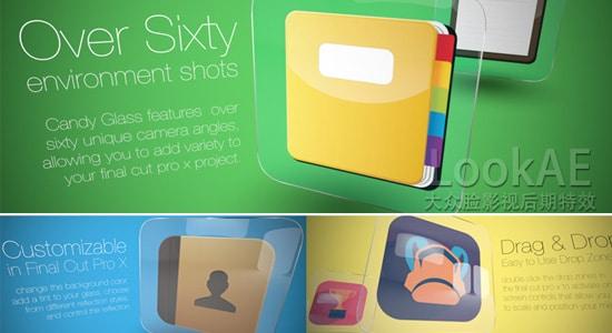 FCPX主题插件:玻璃质感图文展示动画包装 CANDY GLASS