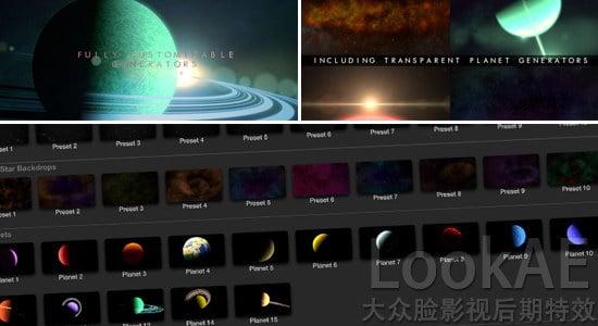 FCPX插件:浩瀚宇宙银河星空行星场景动画 ProDrop Space