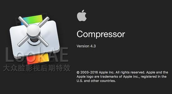 苹果视频压缩编码输出软件 Compressor 4.3(多国语言/含中文版)免费下载