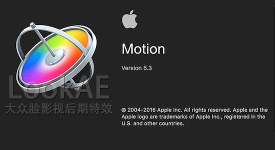苹果视频制作编辑软件 Motion 5.3.1(英/中文版)免费下载