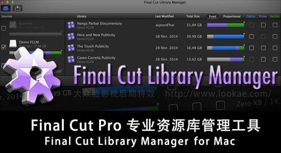 Final Cut Pro X 专业资源库管理工具 Final Cut Library Manager 3.23 for FCPX