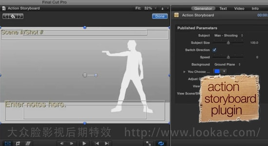 FCPX插件:动作电影场景分镜头故事动画 FCPeffects - Action Storyboard