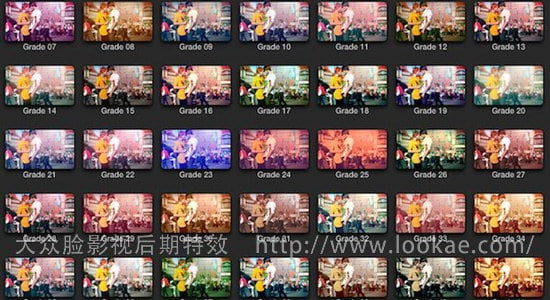 FCPX调色插件:40种分级调色插件 FCPeffects - Color Command Pro Grades