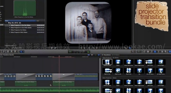 FCPX插件:24种复古怀旧摄像机拍摄转场 FCPeffects - Slide Projector Transition