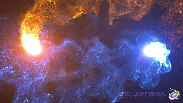 Apple Motion模板:震撼史诗粒子碰撞爆炸LOGO展示片头 Epic Light
