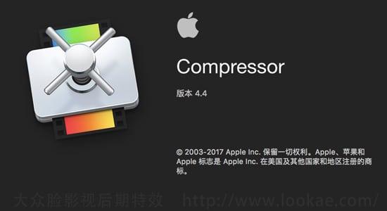 苹果视频压缩编码转码输出软件 Compressor 4.4.5 Mac 英/中文版 免费下载 FCPX 软件-第1张