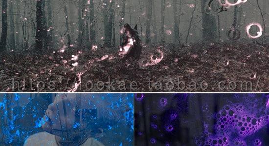 FCPX插件:30种恐怖惊悚泡沫气泡叠加特效 Overlay Neon Grunge