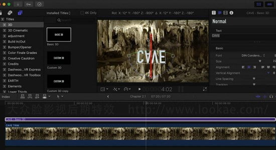 FCPX教程:创建文字标题和特效 Final Cut Pro X Guru: Titles and Effects