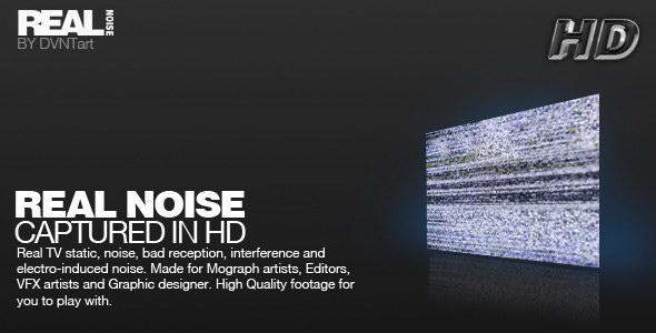 视频素材:15个电视雪花无信号干扰动画 REAL NOISE pack 视频素材-第1张