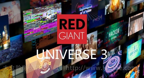 FCPX插件-红巨人视觉特效和转场插件包Red Giant Universe 3.0.2(AE软件中常用特效) FCPX 插件-第1张