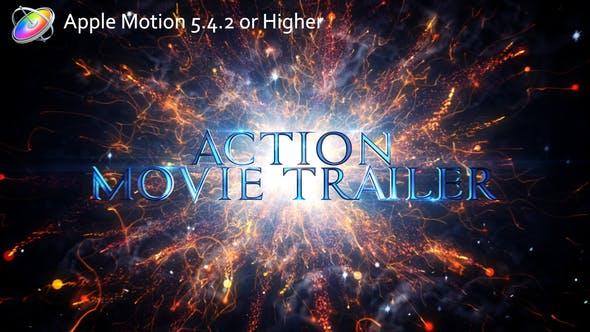 Apple Motion模板-大气史诗震撼粒子文字图片宣传片头 Action Movie Trailer Motion 5-第1张