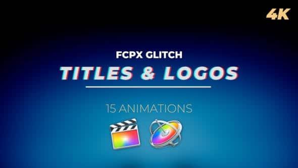 FCPX插件-15个复古信号干扰色彩分离损坏LOGO文字标题动画 Glitch Titles and Logos FCPX 插件-第1张