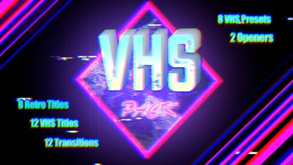 FCPX插件-八十年代复古录像机效果转场文字标题特效 VHS Pack FCPX 插件-第1张