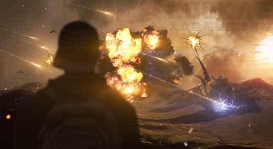 视频素材-184个爆炸坍塌火焰烟雾流星闪电电流特效合成视频素材 有透明通道 视频素材-第1张