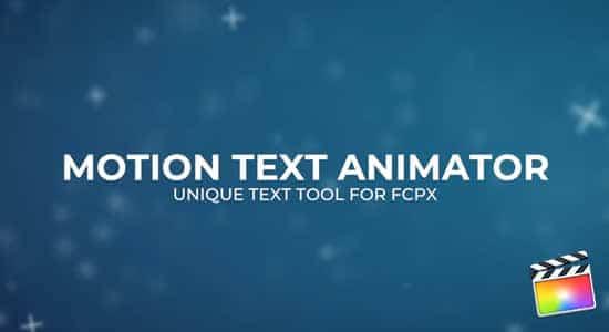 FCPX插件-6组抖动变化文字标题动画 Motion Text Animator FCPX 插件-第1张