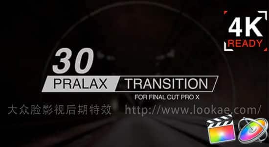 FCPX转场插件-30种图形切割玻璃折射视差转场预设 支持4K FCPX 插件-第1张