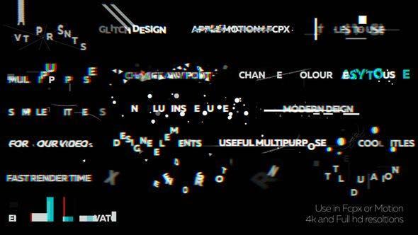FCPX插件-19个画面像素损坏干扰文字标题动画 Glitch Titles 2 FCPX插件-第1张