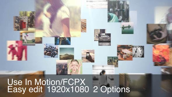 FCPX插件-众多图片汇聚LOGO标志片头 Multi Video Logo Intro FCPX 插件-第1张