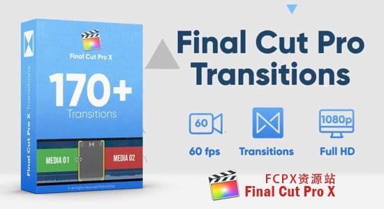 FCPX转场插件-170种简单图形蒙板遮罩过渡视频转场 FCPX 插件-第1张