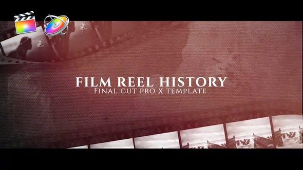 FCPX模板-复古炫光电影胶片刮痕图文宣传介绍开场 Film Reel History+使用教程 FCPX 插件-第1张