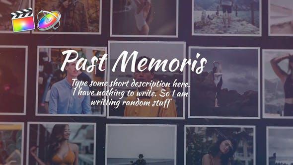 FCPX模板-美好回忆照片墙电子相册图片文字介绍展示 Past Memories + 使用教程 FCPX 插件-第1张