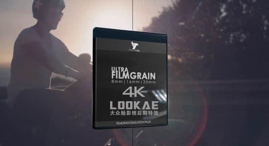 视频素材-57个电影胶片噪点颗粒叠加4K视频素材 Ultra Film Grain 8mm/16mm/35mm 视频素材-第1张