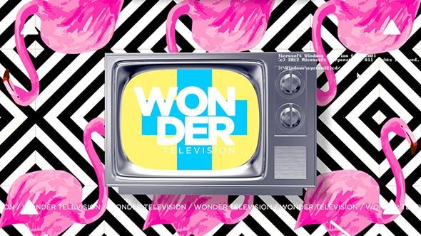 Apple Motion模板-时尚动感复古电视机图文介绍动画展示 Wonder Television Motion 5-第1张