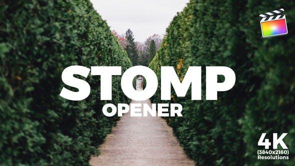 FCPX模板-动感节奏快闪快剪图文展示开场预告片头Stomp Opener+使用教程 FCPX 插件-第1张