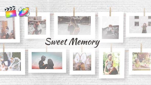 FCPX模板-浪漫甜蜜回忆悬挂晾晒照片电子相册动画Sweet Memories+使用教程 FCPX 插件-第1张