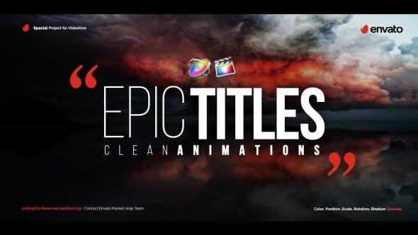 FCPX插件-20种史诗震撼大气文字标题动画 Epic Titles For Final Cut Pro X+使用教程 FCPX 插件-第1张