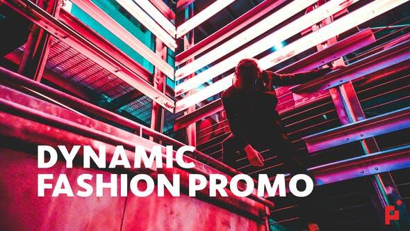 FCPX模板-酷炫数字故障复古刮痕图文切换开场 Dynamic Fashion Promo FCPX插件-第1张