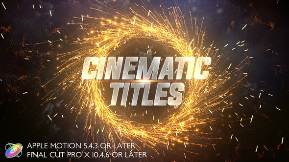 FCPX模板-大气震撼火星粒子文字标题电影预告片开场 Cinematic Trailer Titles FCPX插件-第1张