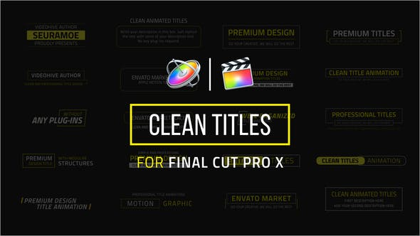 FCPX插件-20���F代�①��文字�祟}�赢� Clean Titles for Final Cut Pro X FCPX插件-第1��