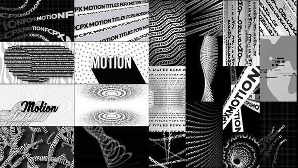 FCPX插件-64种创意海报设计文字标题横屏竖屏排版动画 Typographic Kinetic Posters & Titles FCPX插件-第1张