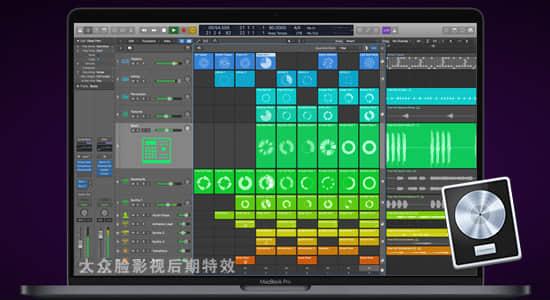 Mac苹果音乐制作编辑软件 Logic Pro X v10.6.0 英/中文破解版 FCPX软件-第1张