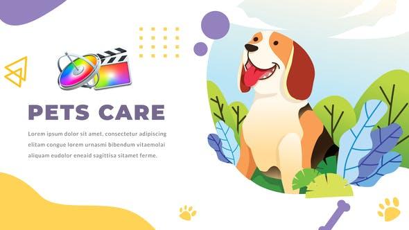 FCPX插件-12组可爱卡通医生宠物护理医疗图形文字动画介绍展示 Pets Care and Veterinarian FCPX插件-第1张