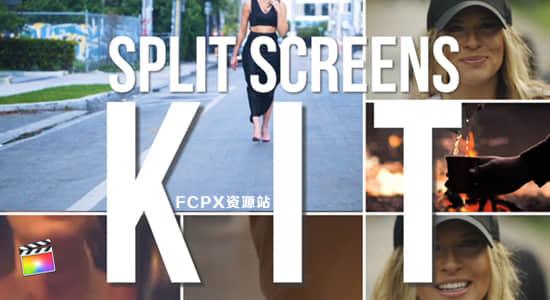 FCPX插件-24个运动画面视频分屏预设 Split Screens Kit + 使用教程 FCPX插件-第1张