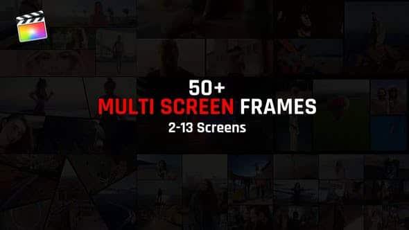 FCPX插件-59个多画面组合动态分屏预设动画 Multi Screen Frames Pack FCPX插件-第1张