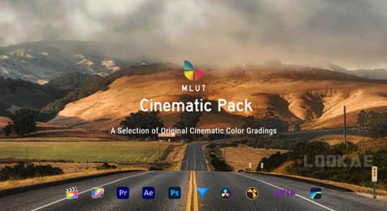 30种专业级震撼大气电影大片LUTS调色预设 mLUT Cinematic Pack FCPX插件-第1张