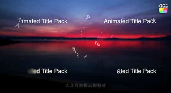 FCPX插件-27个缓入缓出动态文字标题基本字幕 Animated Title Pack FCPX插件-第1张